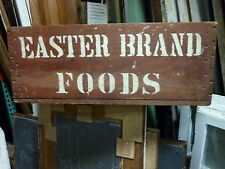 c1900 vintage ANTIQUE PRIMITIVE blood red GROCERY food store CRATE 29.5 x 14 x11