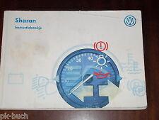 Betriebsanleitung / Handleiding / Instructieboekje VW Sharan ,Stand 1997