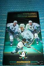 MIGHTY DUCKS OF ANAHEIM MEDIA GUIDE FROM 2000-2001 SEASON SELANNE KARIYA