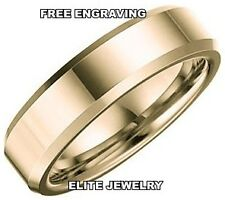 6MM WIDE MENS 14K YELLOW GOLD WEDDING BANDS RING SZ4-13