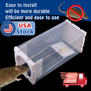 White Humane Rat Trap Cage Animal Pest Rodent Mice Mouse Bait Catch Capture