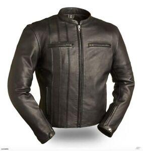2020 Black Men Jacket Motorcycle Jackets Biker Racer Leather Motorbike Jacket