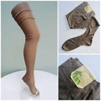 Vintage Silk Stockings Ladies 1930s Unworn Seamed Brown Jenners Edinburgh 30s