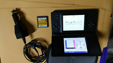 Nintendo DS Lite Black Handheld Bundle W/ 1 Game Brain Age & CAR Charger & case