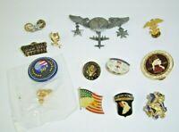 Mixed Military Lot of Insignia Pins Patches AAF Presidential Cold War Bulk