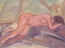 Peinture Tableau nu huile sur toile 40cm/30cm  A Picard  cotation Drouot