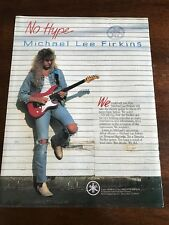 1990 VINTAGE 8X11 PRINT Ad FOR Yamaha PACIFICA Guitar WITH MICHAEL LEE FIRKINS