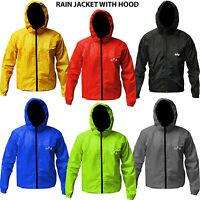 Cycling Rain Jacket Cycle Waterproof Rain Coat With Hood Full Sleeves Light