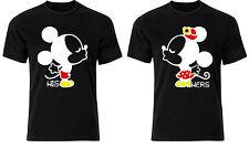 Disney Mickey Minnie Besándose Amantes Pareja de él ella Camiseta arriba Ab70