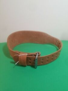 Vintage Altus Leather 2 Prong Weight Lifting Belt Small 24-28 Brown