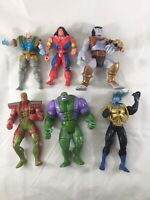 Lot of 6 Vintage 90's Action Figures X-Men Gargoyles Wildcats Toy Biz Aegis Used