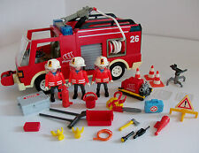 Playmobil Fire Truck With Fire Fighters Figures & Loads of Accessories