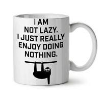Sloth Lazy Joke Funny NEW White Tea Coffee Mug 11 oz | Wellcoda