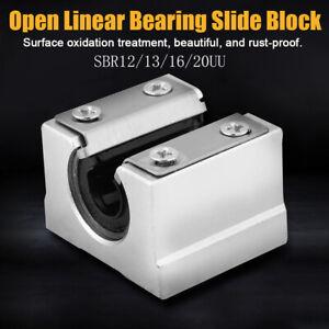 SBR 12-20UU 12-20mm Aluminum Open Linear Motion Bearing Block Slide for CNC