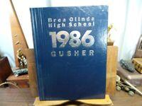 1986 BREA OLINDA HIGH SCHOOL CA Original YEARBOOK Annual The Gusher