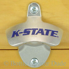 Kansas State Wildcats Wall Mount Bottle Opener K-State NCAA, Licensed, New!!