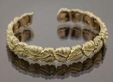 Tiffany & Co, 18K Solid Gold, 2002 Rare flexible Leaf Bracelet