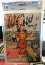 WOW COMICS #51 CGC 9.0 HIGHEST GRADE POP 1 DAVIS CRIPPEN D FAWCETT MARY MARVEL