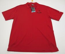 new Nike #T8896 Men's Size L Athletic Dri-Fit Golf Vigor Red Polo Shirt