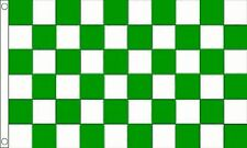 Green and White Checkered Check 5'x3' Flag