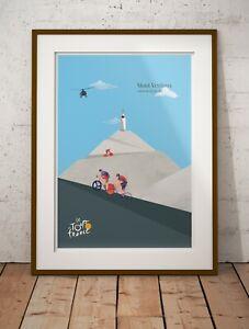 Mont Ventoux - Tour de France cycling biking racing A3, A2, A1 Posters Prints