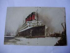 E101 - CUNARD LINE - RMS AQUITANIA Postcard