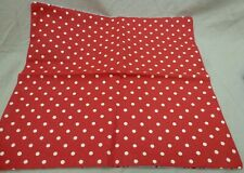 NEW HANDMADE LARGE CUSHION COVER RED & WHITE POLKA DOTS REVERSIBLE STRIPES 40CM