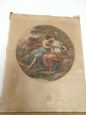 Lithographie  ancienne couleur Thomas BURKE d'après Kaufmann XVIIIe