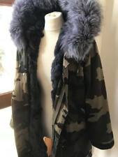 Mr & Mrs Lady Parka CamoParka Grey Rabbit lined large silver fox hood