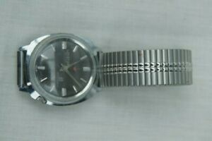 Gents Lonstar mechanical watch, expanding bracelet, Stainless Steel, working