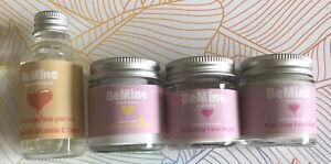 BeMine Natural Skincare Bundle Vit C Toner Exfoliator Pink Clay Face Mask