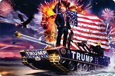 Trump Animal Guns America Plaque Freedom Novelty Homes Garden Wall Art Craft