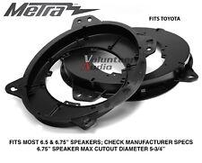 """Metra 82-8147 Lexus & Toyota Models 6"""" To 6.75 Front Speaker Adapters"""