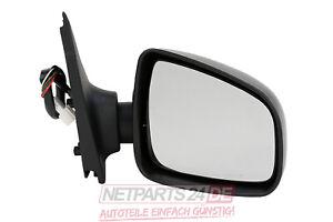 Neu Außenspiegel Spiegel Rechts Beifahrerseite Schwarz Dacia Logan MCV II 02//13