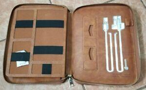 iPad/tablet Portfolio Zippered PU Leather Tablet Sleeve Organizer power station