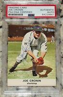 1961 Golden Press Joe Cronin Signed Autographed Auto Baseball Card PSA Slabbed!