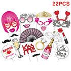 22X Kawwii Photo Props Mustache DIY Kit Lips Single Bachelorette Party Supplies