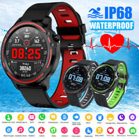 L8 Smart Watch IP68 ECG Fitness Tracker  Heart Rate Blood Pressure Android  IOS
