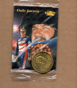 1997 Pinnacle Mint #P1 Dale Jarrett Promo with coin sealed