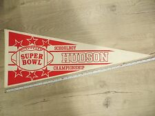 Hudson Massachusetts High School Mass MA Vintage Felt Pennant Flag Football