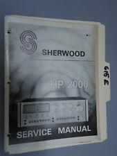Sherwood hp 2000 service manual original repair book stereo amp amplifier
