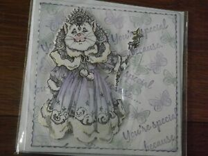 """Handmade Unique  """" CAT QUEEN """" You're Special Because... BLANK Card - see photo"""