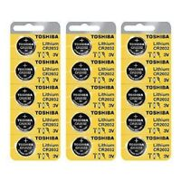 15 x New Original Toshiba CR2032 CR 2032 3V LITHIUM BATTERY BR2032 DL2032 Remote