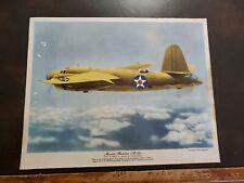 Vntg WW2 Flying Magazine Poster Insert Premium 8x10 Martin Bomber B26