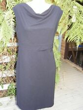 Black DRESS Size 14 High Bodice STRETCH rrp$59.99 Flattering Cowl Neck