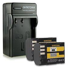 d-li90 2 pezzi più caricabatteria patona 1400 mah per pentax 645d pentax serie k