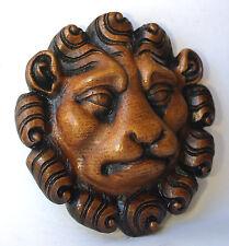 MASCHERA LEONE riproduzione medievale Oak ecclesiastic Carving Unique REALIZZATO A MANO REGALO