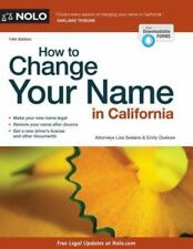 How to Change Your Name in California, Sedano, Lisa, Doskow, Emily, Good Book