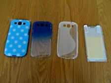 Samsung Galaxy S3 phone covers x 3 and 8 screen protectors new no tags may split