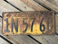 American Licence Plate USA Diner Sign Bar Cave Art California 1934
